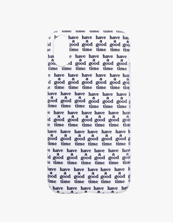 have a good time Logo All Over iPhone Case X - White | HEIGHTS. | International Store