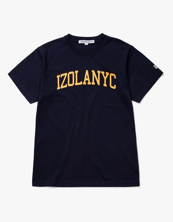 IZOLA NYC College Logo S/S Tee - Navy | HEIGHTS. | International Store