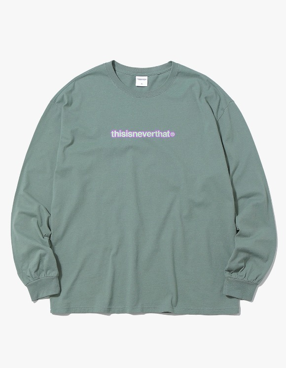 thisisneverthat 2Tone Logo L/SL Top - Olive | HEIGHTS. | International Store