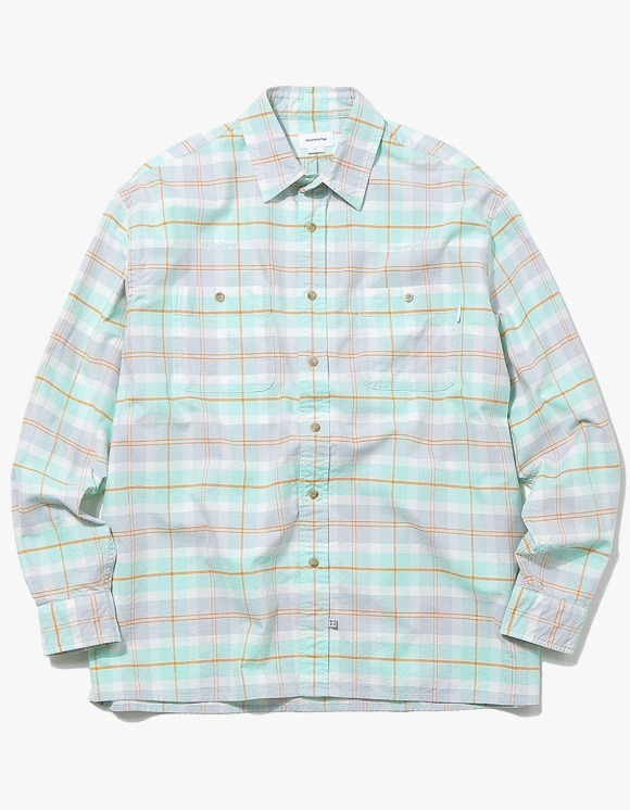 thisisneverthat HSP Check Shirt  - Mint | HEIGHTS. | International Store