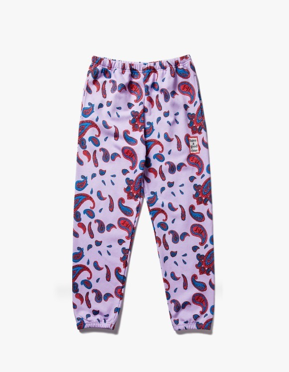 have a good time Paisley Mini Frame  Sweat Pants - Violet | HEIGHTS. | International Store