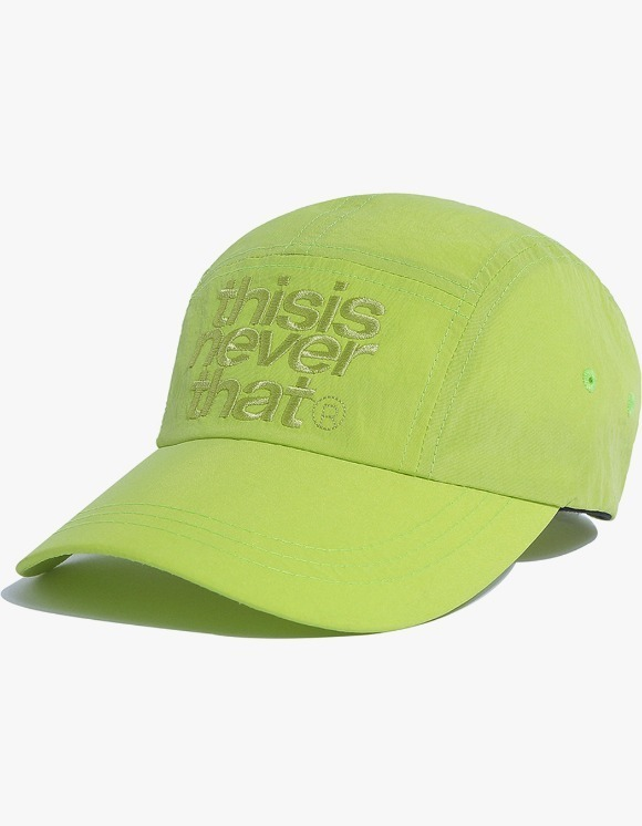 thisisneverthat 3Line Logo Camp Cap - Lime Green | HEIGHTS. | International Store