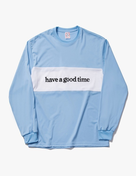 have a good time Panel Jersey L/S Tee - Blue | HEIGHTS. | International Store