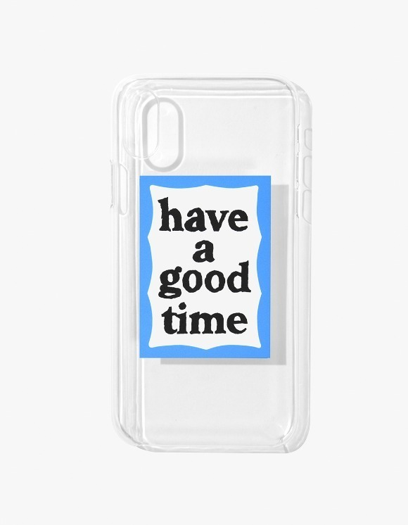 have a good time Blue Frame iPhone Case X - Clear | HEIGHTS. | International Store
