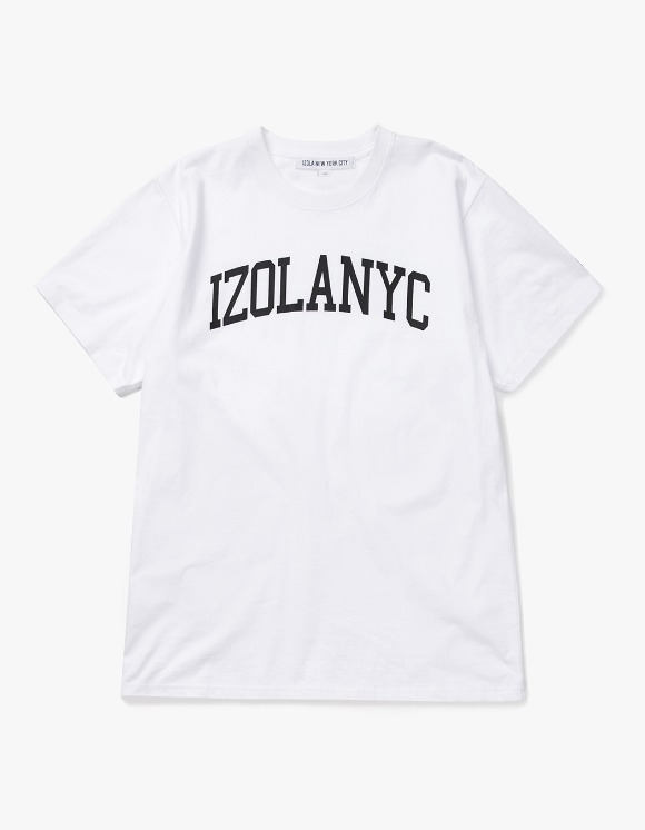 IZOLA NYC College Logo S/S Tee - White | HEIGHTS. | International Store