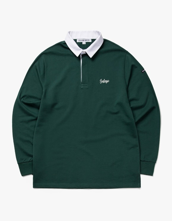 IZOLA NYC Varsity L/S Rugby Tee - D.Green | HEIGHTS. | International Store