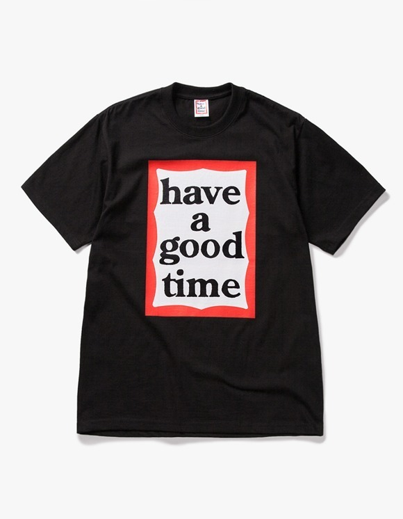 have a good time Big Frame S/S Tee - Black | HEIGHTS. | International Store