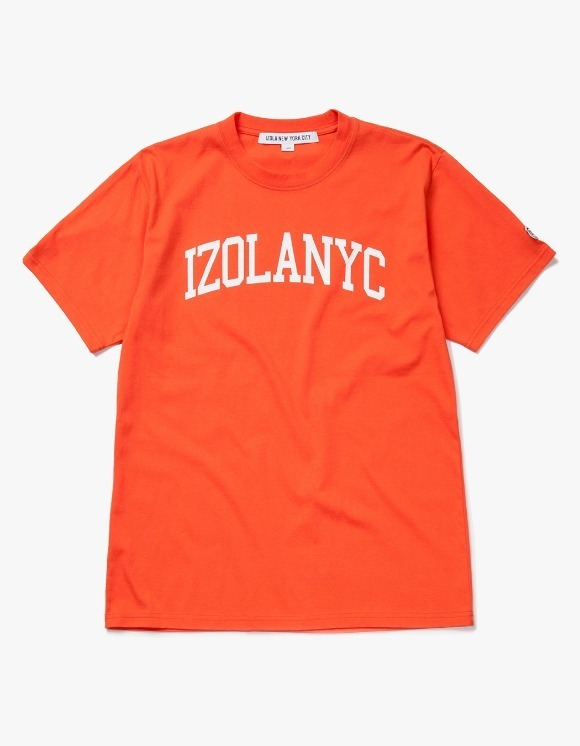 IZOLA NYC College Logo S/S Tee - Orange | HEIGHTS. | International Store