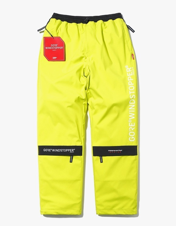 thisisneverthat GORE® WINDSTOPPER® CITY Pant - Lime | HEIGHTS. | International Store