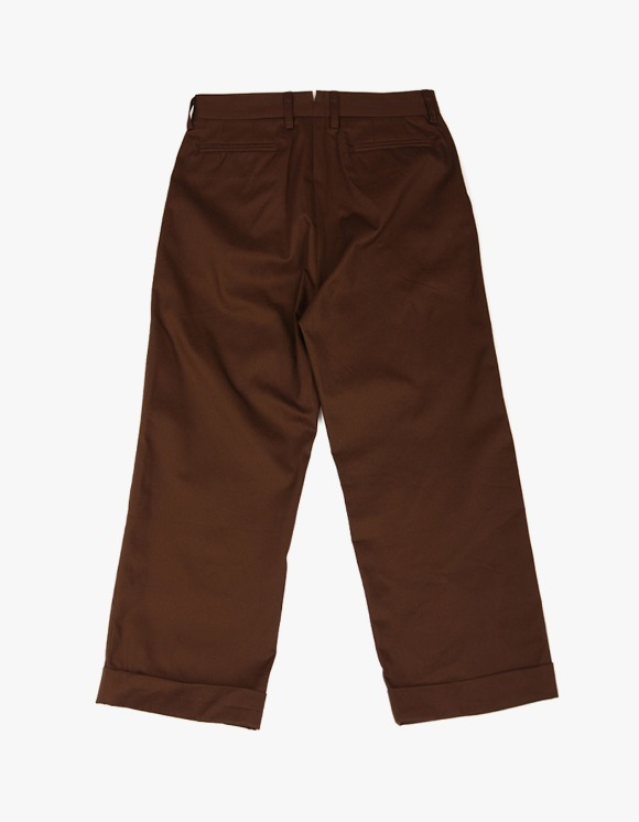yeseyesee Two Tuck Wide Pants - Brown | HEIGHTS. | International Store
