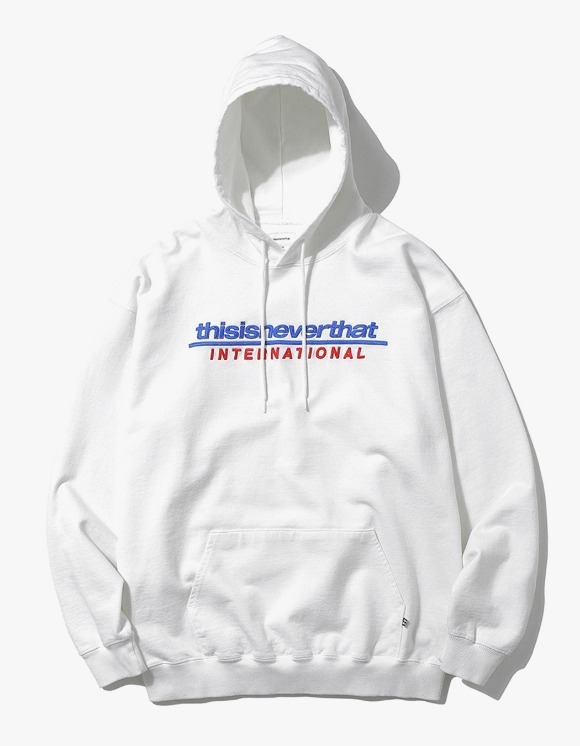 thisisneverthat SP-INTL. Logo Hooded Sweatshirt - White | HEIGHTS. | International Store