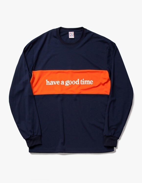 have a good time Panel Jersey L/S Tee - Navy | HEIGHTS. | International Store