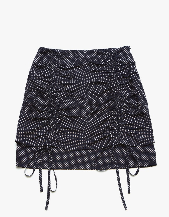 Margarin Fingers Double Shirring Skirt - Navy | HEIGHTS. | International Store