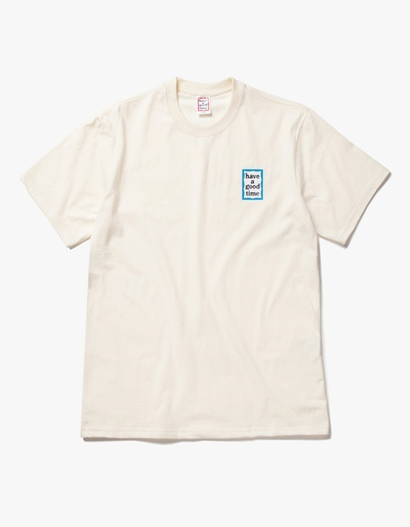 have a good time Mini Blue Frame S/S Tee - Cream | HEIGHTS. | International Store