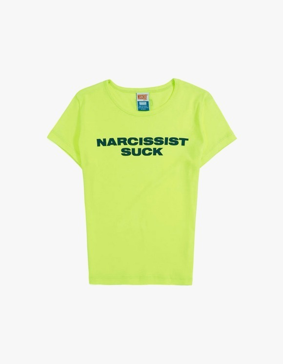 MISCHIEF Fitted Slogan Tee - Neon Green | HEIGHTS. | International Store