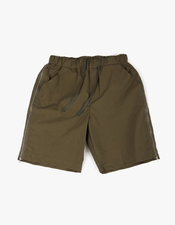 yeseyesee Zip Shorts - Olive | HEIGHTS. | International Store