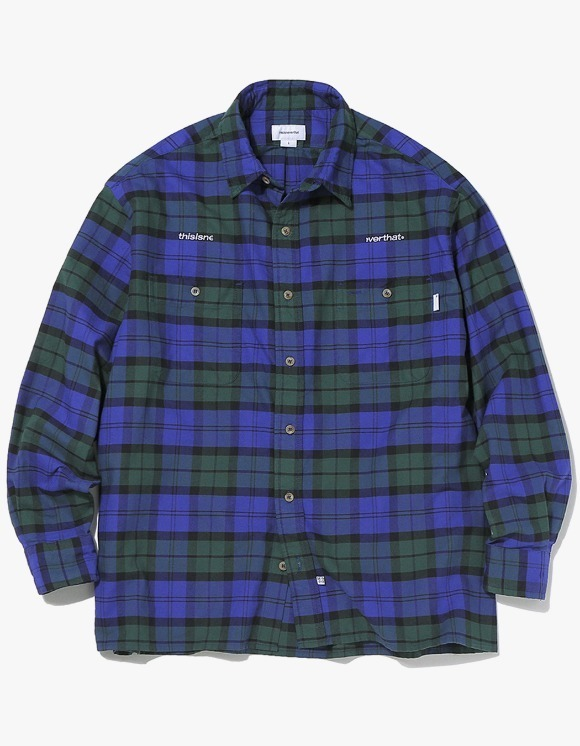 thisisneverthat HSP Check Shirt  - Navy | HEIGHTS. | International Store