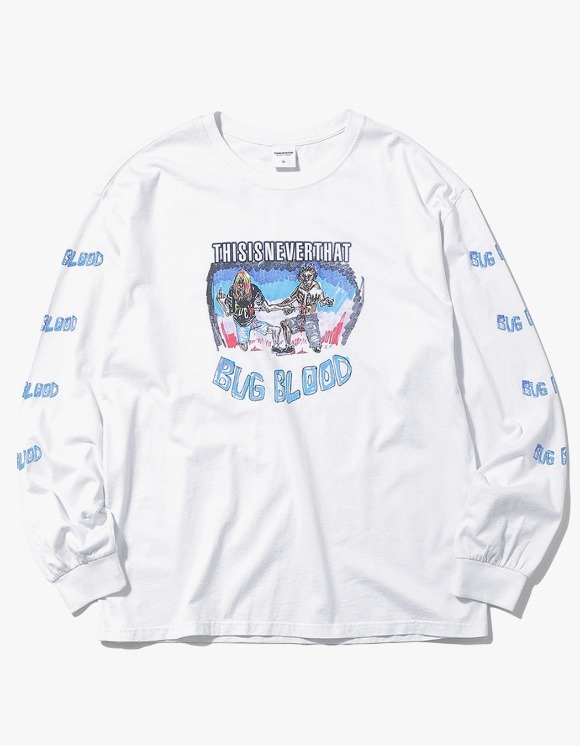 thisisneverthat BUG BLOOD L/SL Top - White | HEIGHTS. | International Store