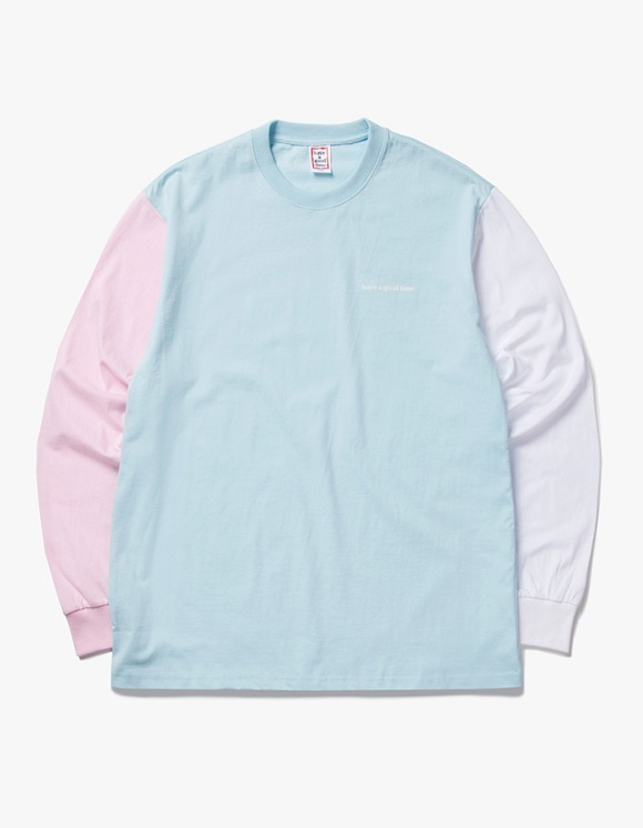have a good time 3 Color L/S Tee - Pink / Light Blue / White | HEIGHTS. | International Store