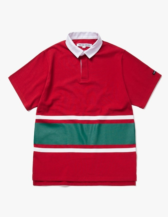 IZOLA NYC Line S/S Rugby Tee - Red | HEIGHTS. | International Store