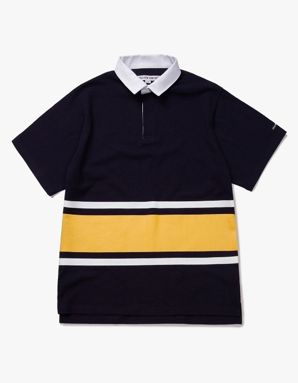 IZOLA NYC Line S/S Rugby Tee - Navy | HEIGHTS. | International Store