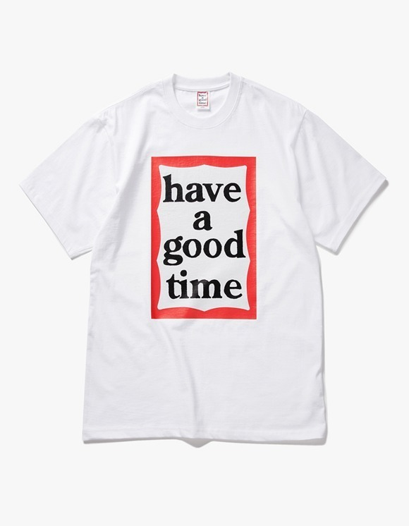 have a good time Big Frame S/S Tee - White | HEIGHTS. | International Store