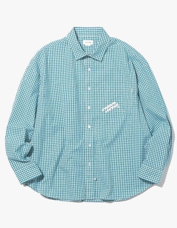 thisisneverthat DIA-Logo Gingham Check Shirt - Green | HEIGHTS. | International Store