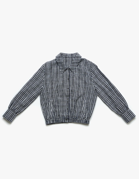 Margarin Fingers Check Shirt Jacket - Blue | HEIGHTS. | International Store