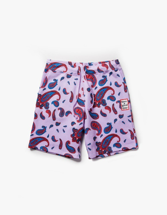 have a good time Paisley Mini Frame Sweat Shorts - Violet | HEIGHTS. | International Store