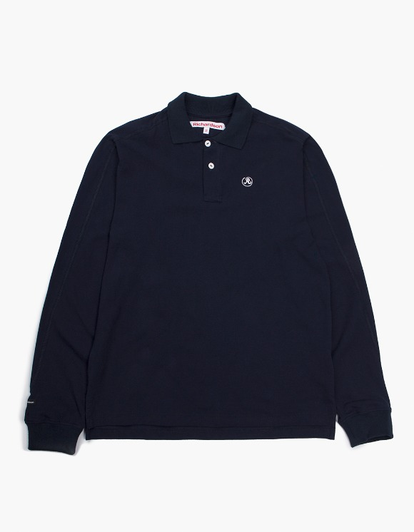 Richardson Engineered Glyph Polo Longsleeve - Midnight Blue | HEIGHTS. | International Store