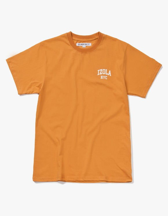IZOLA NYC Arch Logo S/S Tee - Camel | HEIGHTS. | International Store