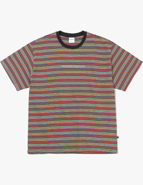 thisisneverthat Cherokee Striped Tee - Black | HEIGHTS. | International Store