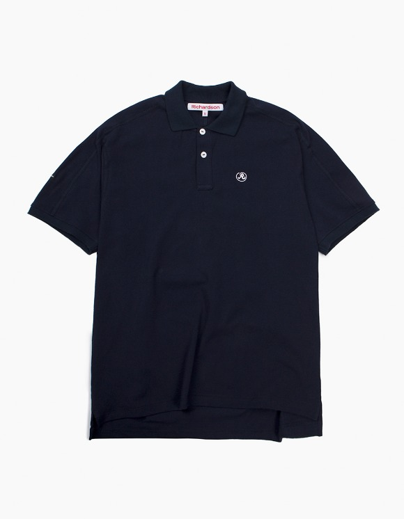 Richardson Engineered Glyph Polo Shortsleeve - Midnight Blue | HEIGHTS. | International Store