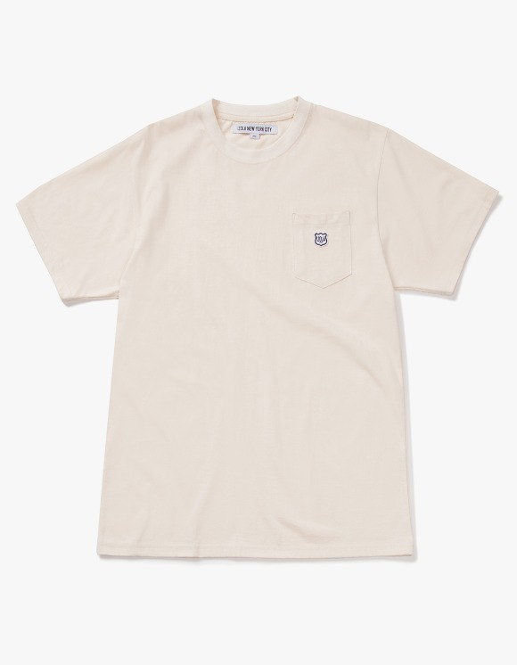 IZOLA NYC Patch S/S Pocket Tee - Cream | HEIGHTS. | International Store