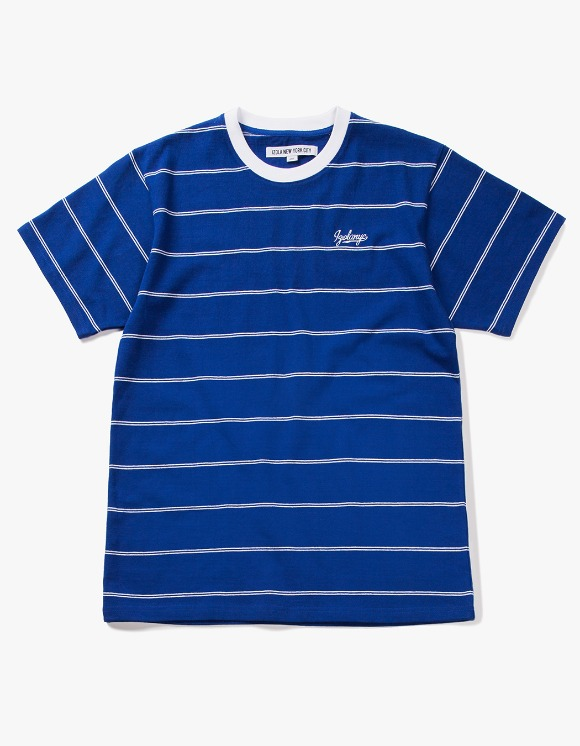 IZOLA NYC Pin Stripe S/S Tee - Blue | HEIGHTS. | International Store