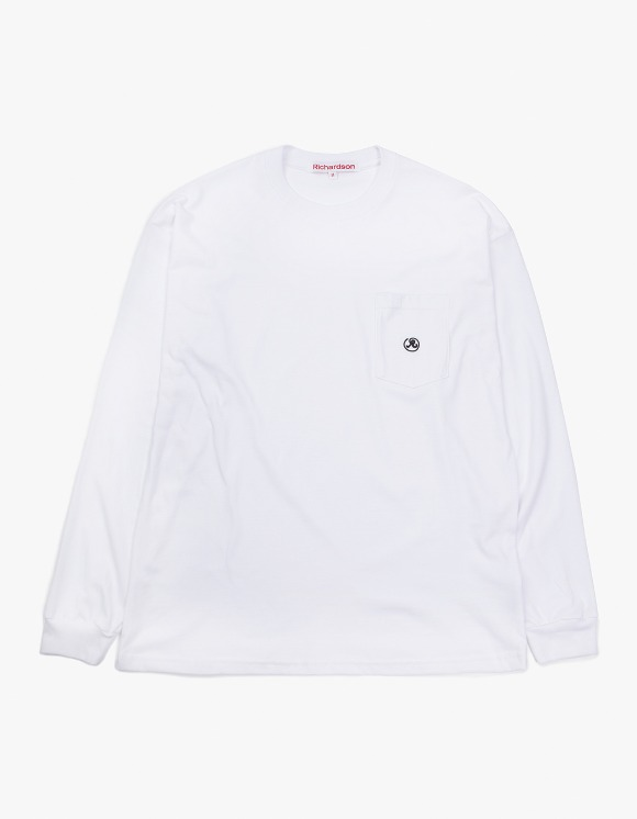 Richardson Pocket Glyph Longsleeve - White | HEIGHTS. | International Store