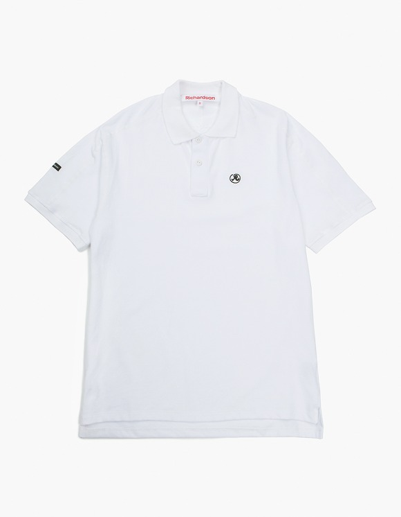 Richardson Engineered Glyph Polo Shortsleeve - White | HEIGHTS. | International Store
