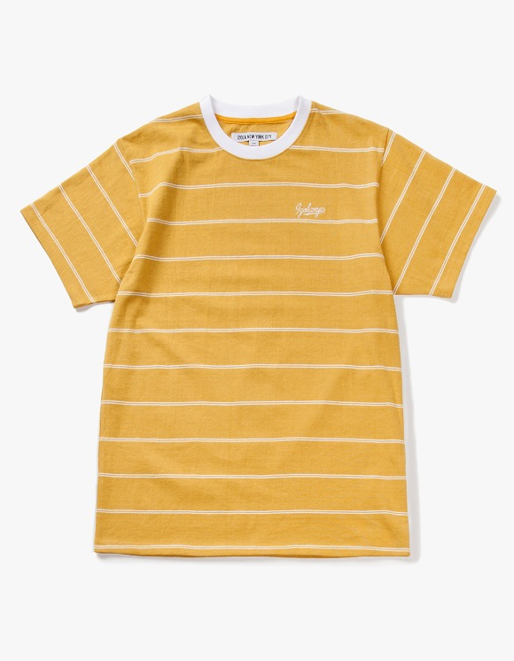 IZOLA NYC Pin Stripe S/S Tee - Yellow | HEIGHTS. | International Store