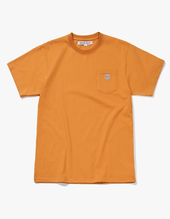 IZOLA NYC Patch S/S Pocket Tee - Camel | HEIGHTS. | International Store