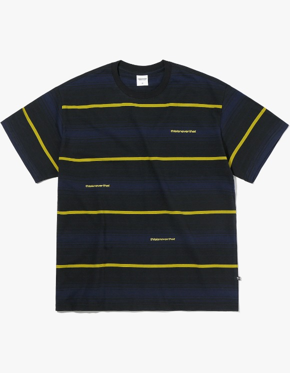 thisisneverthat 3SP Striped Tee - Black | HEIGHTS. | International Store