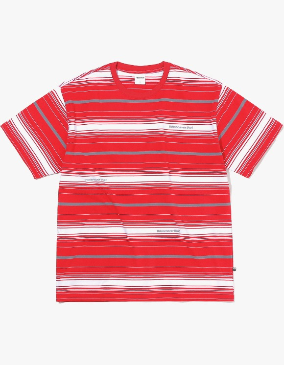 thisisneverthat 3SP Striped Tee - Red | HEIGHTS. | International Store