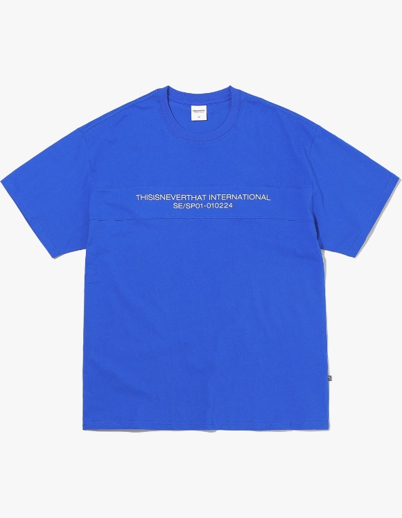 thisisneverthat TN INTL. Panel Tee - Blue | HEIGHTS. | International Store
