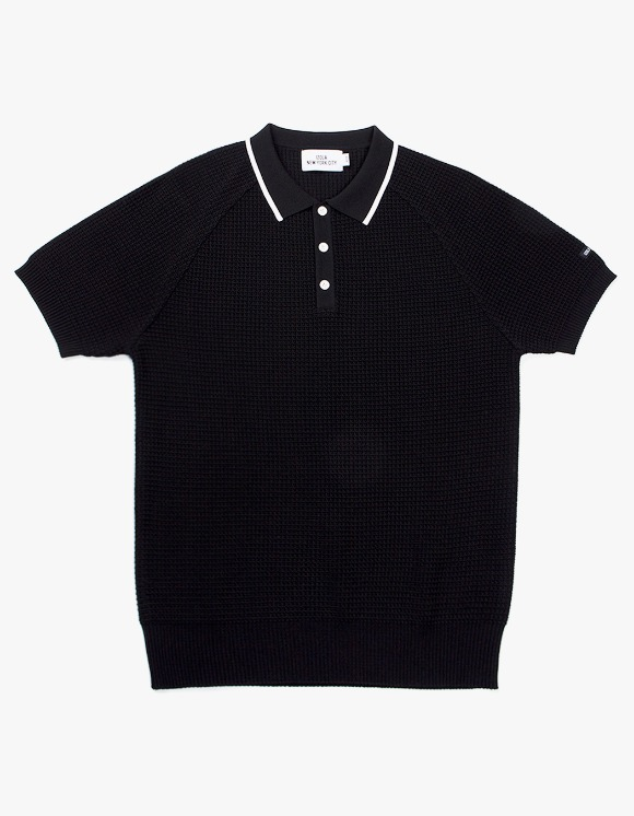 IZOLA NYC Raglan Polo knit - Black | HEIGHTS. | International Store