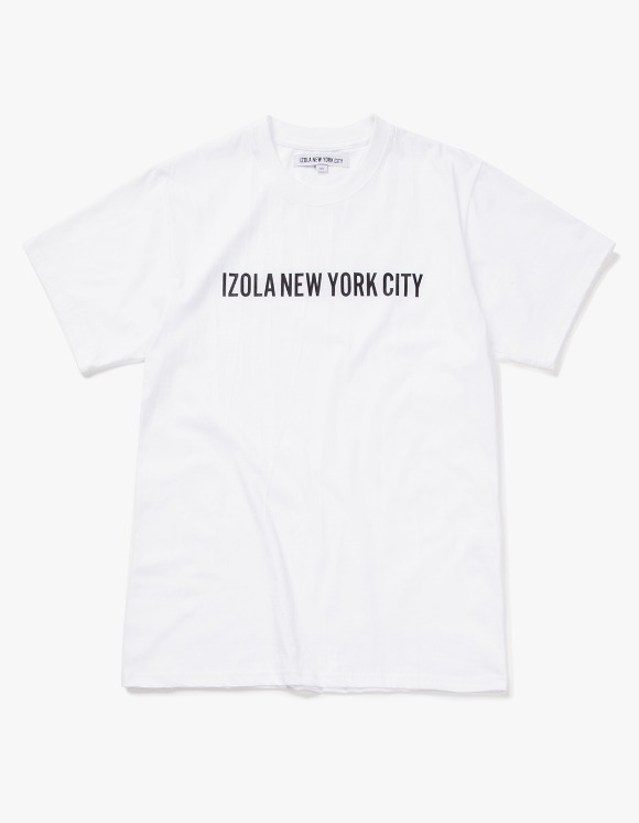 IZOLA NYC Logo S/S Tee - White | HEIGHTS. | International Store