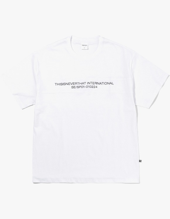 thisisneverthat TN INTL. Panel Tee - White | HEIGHTS. | International Store