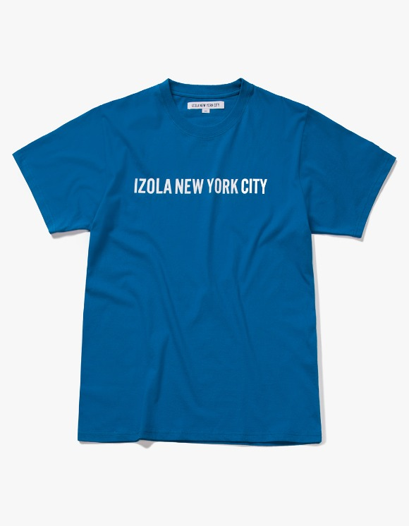 IZOLA NYC Logo S/S Tee - Deep Blue | HEIGHTS. | International Store