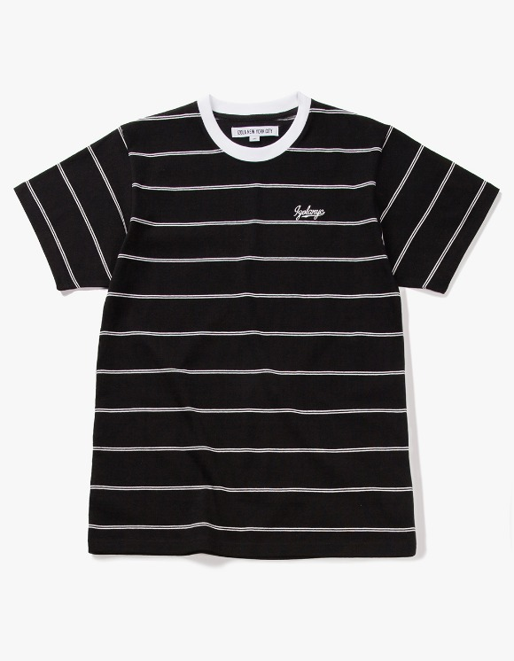 IZOLA NYC Pin Stripe S/S Tee - Black | HEIGHTS. | International Store