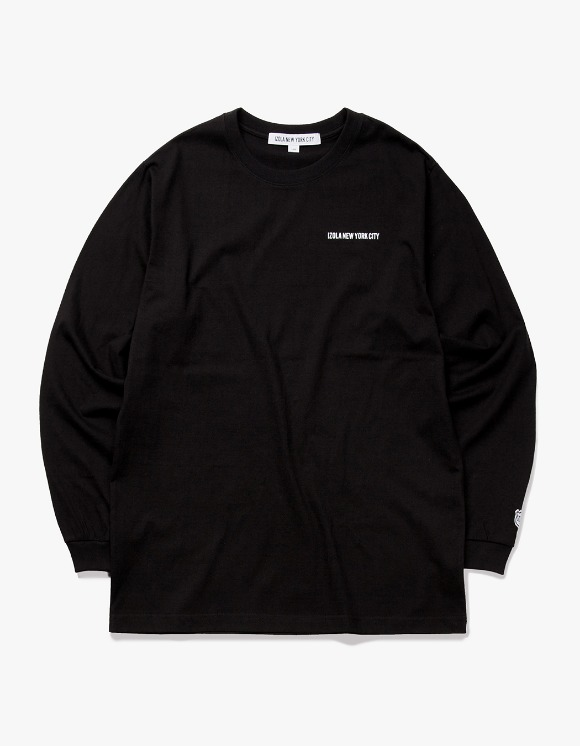 IZOLA NYC Logo L/S Tee - Black | HEIGHTS. | International Store