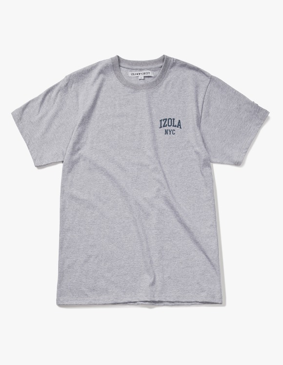 IZOLA NYC Arch Logo S/S Tee - Heather Grey | HEIGHTS. | International Store