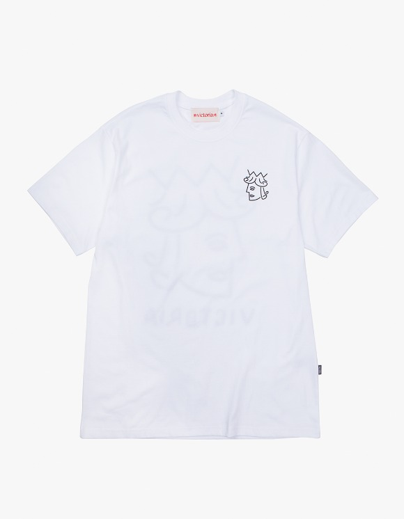 Victoria Hong Kong Queenhead S/S Classic Tee - White | HEIGHTS. | International Store